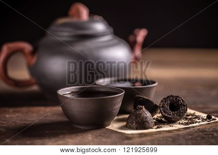 Hot Pu-erh Tea