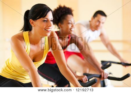 Three People In The Gym