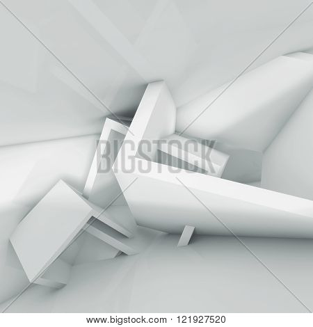 Empty Architecture Background, 3D Illustration