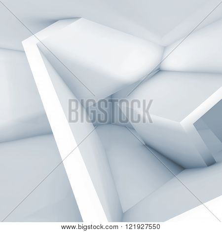 Abstract Interior With Cubic Structures 3 D