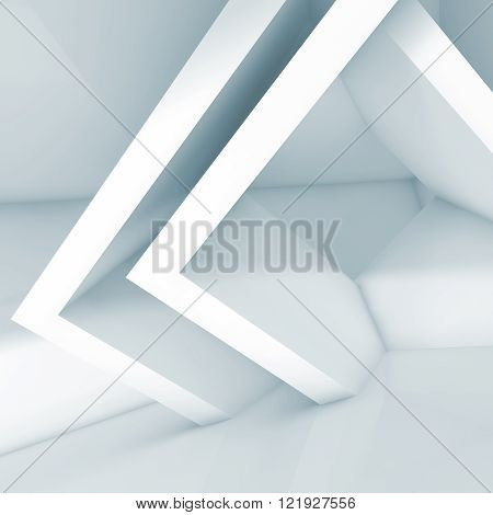 Abstract Interior Design With Cubic Structures 3D