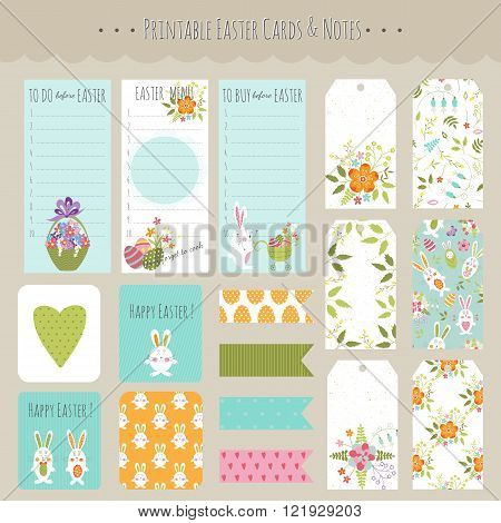 Set of Easter cards and notes