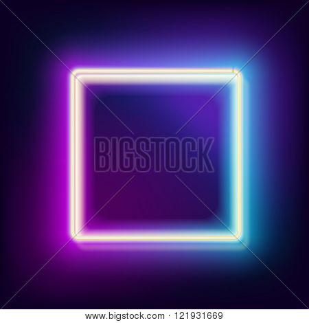 lowing electric square, neon lamp