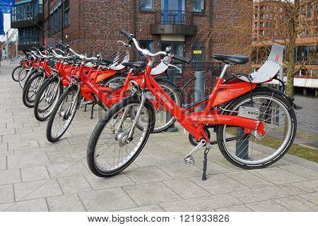 Stadtrad Hamburg bicycle sharing station
