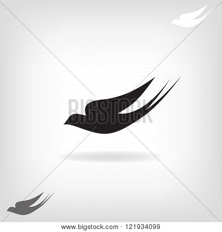 Stylized silhouette swallow
