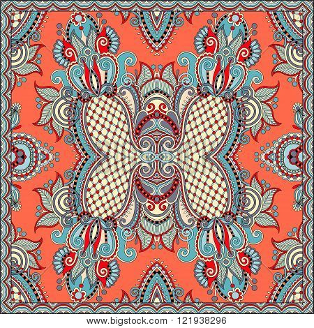 square pattern design in ukrainian style for print on fabric