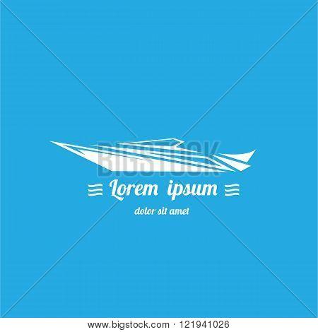 vector yacht icon. vector boat logo