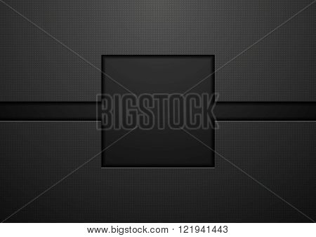 Black tech abstract concept background. Vector template design