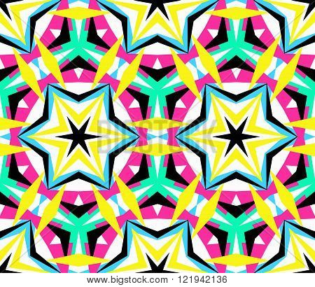 Kaleidoscope Starry Pattern