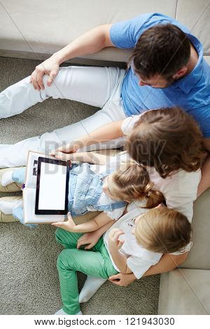 Family with touchpad