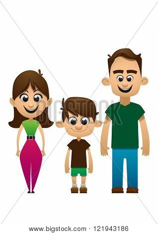 Happy family vector people  daughter
