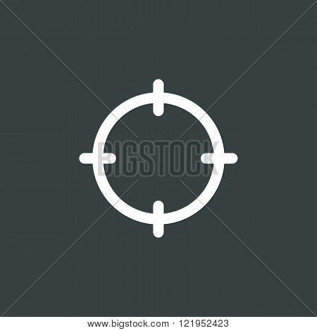 Aim Icon, On Dark Background, White Outline, Large Size Symbol