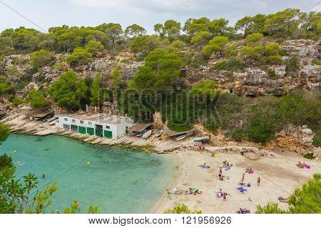 Beautiful view of Cala Pi Bay Mallorca Baleares Spain