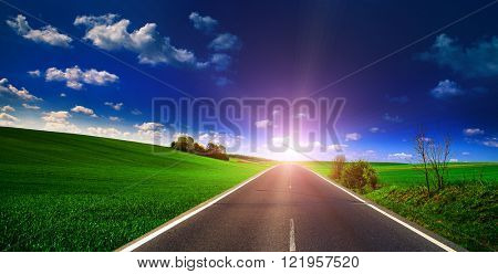 Beautiful view of the paved road