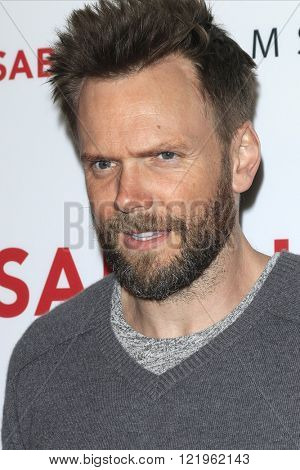 LOS ANGELES - MAR 15: Joel McHale at the premiere of Saban Films' 'The Confirmation' at NeueHaus on March 15, 2016 in Los Angeles, California