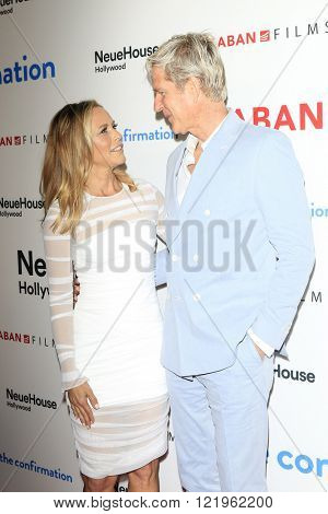 LOS ANGELES - MAR 15: Maria Bello, Matthew Modine at the premiere of Saban Films' 'The Confirmation' at NeueHaus on March 15, 2016 in Los Angeles, California
