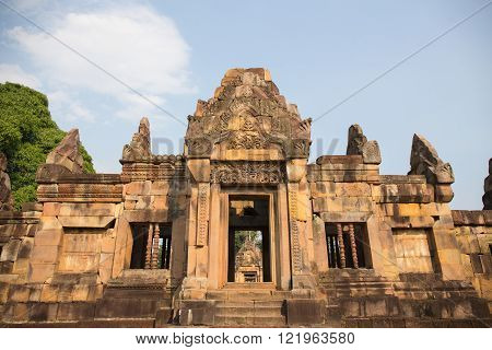 Arch of Prasart Muang Tam Historical Park in Thailand Khmer temple