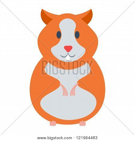Hamster vector illustration. Hamster cartoon domestic animal isolated on white background. Hamster c