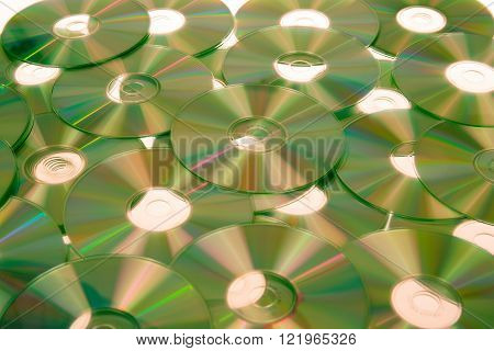 Rainbow Yellow Cd Dvd Bluray On Background