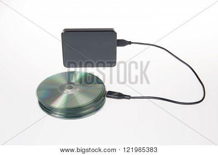 Pile Of Disk And Harddisk, Original Storage Data