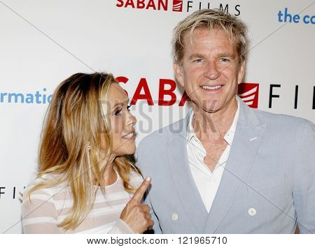 Matthew Modine and Maria Bello at the Los Angeles premiere of 'The Confirmation' held at the NeueHouse in Hollywood, USA on March 15, 2016.