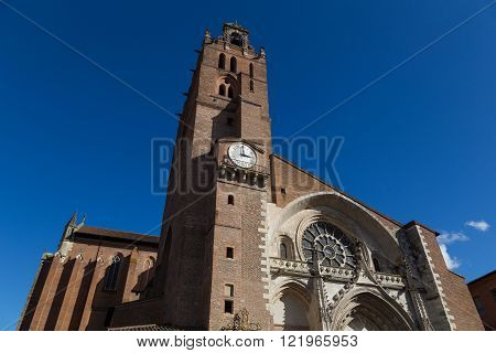 Cathedral Saint-Etienne in Toulouse, France