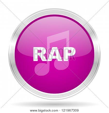 rap music pink modern web design glossy circle icon