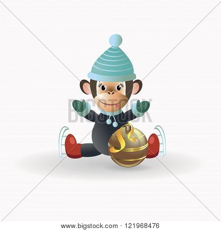 Monkey with a golden ball