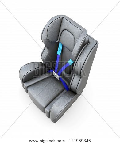 Baby car seat isolated on a white background. 3d render image
