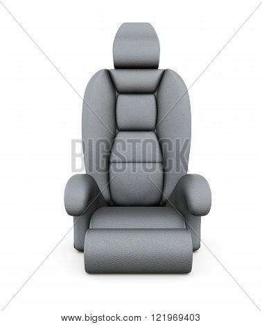 Car seat isolated on white background. 3d rendering