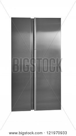 Stainless Steel Refrigerator Isolated