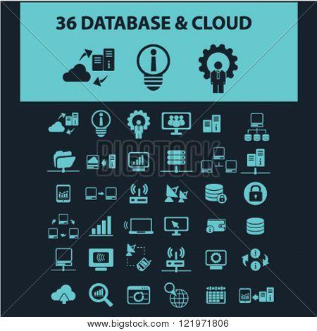 database & cloud icons