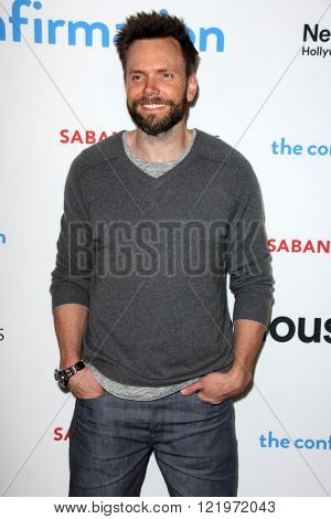LOS ANGELES - MAR 15:  Joel McHale at the The Confirmation Premeire at the NeueHaus on March 15, 2016 in Los Angeles, CA