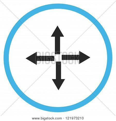 Expand Arrows Flat Vector Icon