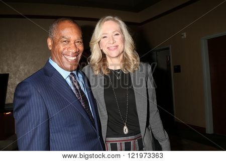 LOS ANGELES - MAR 15:  Joe Morton, Betsy Beers at the PaleyFest Los Angeles - Scandal at the Dolby Theater on March 15, 2016 in Los Angeles, CA