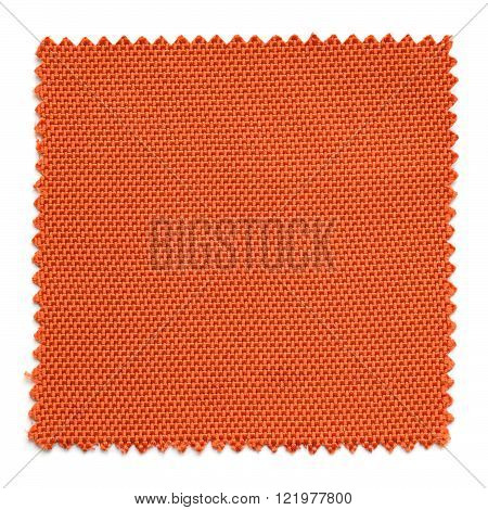 Orange Fabric Swatch Samples Isolated On White Background