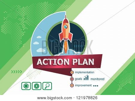 Action Plan Concepts For Business Analysis, Planning, Consulting, Team Work
