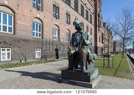 Hans Christian Andersen statue in Copenhagen