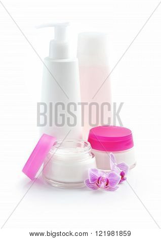 Cosmetic Cream, Lotion, Face Cream, Makeup Remover, Isolated On White Background