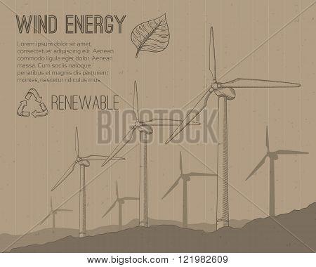 Wind power plant.