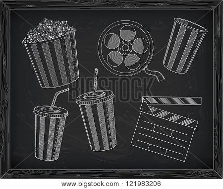 Beautiful Big Striped Carton Box Full Of Delicious & Fresh Popcorn, Small Popcorn Box, Carton Cup Wi