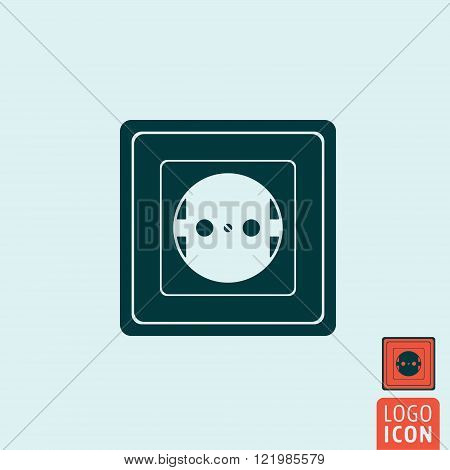 Power socket icon. Power socket symbol. Wall socket icon isolated. Vector illustration