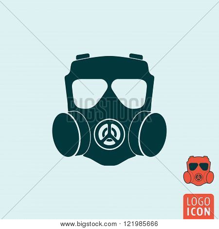 Gas mask icon. Gas mask symbol. Respirator icon isolated. Vector illustration