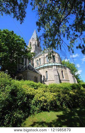 Saint Nicholas Church, Orebro, Sweden at summer day