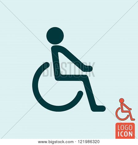 Disabled icon. Disabled handicap icon. Disability symbol. Vector illustration