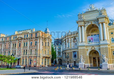 ODESSA UKRAINE - MAY 18 2015: The architecture of Odessa boasts such beautiful buildings built in 19-20 centuries on May 18 in Odessa.