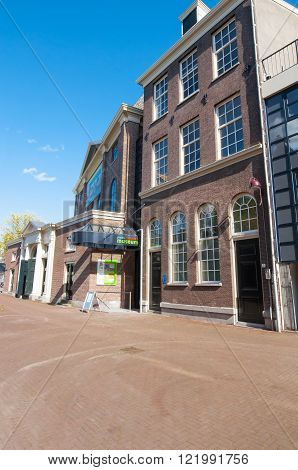 Amsterdam-April 30: Jewish Historical Museum on April 302015 the Netherlands. Jewish Historical Museum is a museum in Amsterdam dedicated to Jewish history culture and religion.
