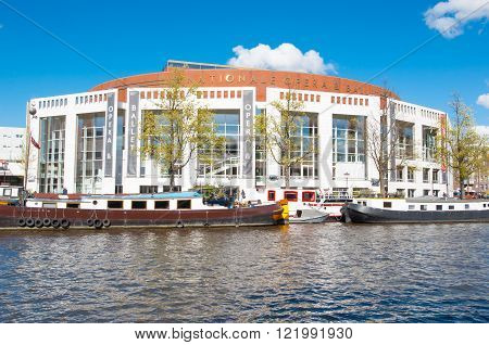 Amsterdam-April 30: Stopera Dutch National Opera & Ballet on April 30 2015. The Stopera is a building complex housing both the city hall of Amsterdam and the Dutch National Opera & Ballet.