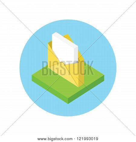 Isometric Envelope Open Design Flat