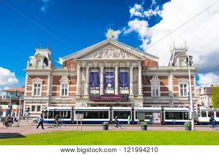 AMSTERDAM-APRIL 30: The Royal Concertgebouw Orchestra on April 302015 in Amsterdam the Netherlands.The Royal Concertgebouw Orchestra is a concert hall in Amsterdam the Netherlands.